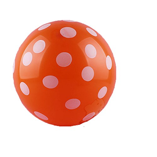 50 Ct 12 Inch Balloons Polka Dot Assorted Color 12 Inch Helium Quality Latex Inflatable for Festival Party Decoration Happy Birthday Home Decor Air Balls (15 Colors for Choice) (Orange)