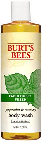 Burt's Bees Peppermint and Rosemary Body Wash - 12 Ounce Bottle