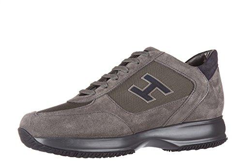 Hogan Herenschoenen Mannen Suède Sneakers Schoenen Interactieve H Kudde Grijs