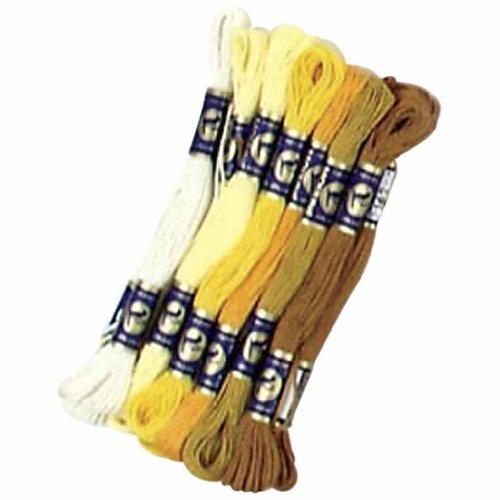 Floss Assortment - Embroidery Floss Assortment, 1 mm, golden harmony, 6 ball