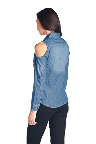 Shirt Blue Ct5003 Womens Tops Denim Chambray md Age Blouse Denim Wash Pn6nx7w