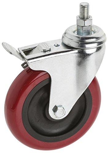 Steelex D2618 5-Inch 300-Pound Threaded Swivel Double Lock P
