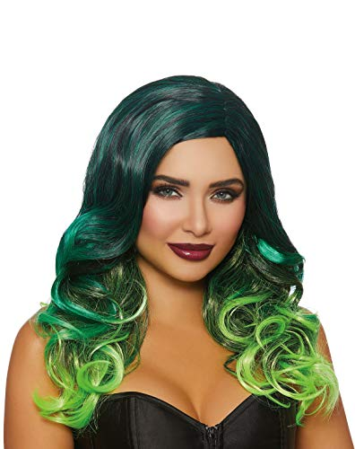 Dreamgirl Women's Long Wavy Layered Multi colored Ombré Wig, One Size]()