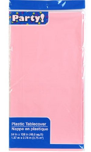 PINK Plastic Table Covers, 54x108