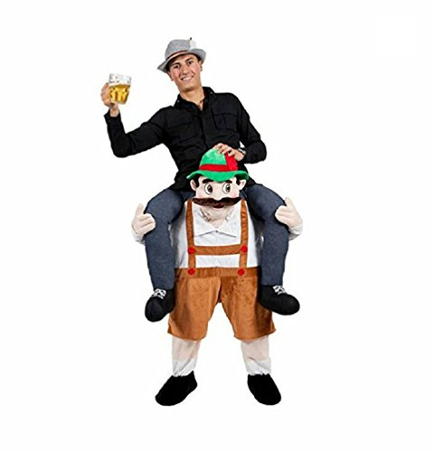 [Carry Me Bavarian Beer Guy Ride On Oktoberfest Mascot Fancy Dress Costume Lot] (Carry Me Ride On Costume)