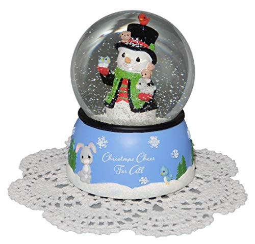 Precious Moments Holiday Christmas Musical Snow Globe with Westbraid Doily (Christmas Cheer for All, 181107) ()