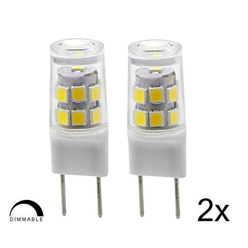 G8 LED Bulb, 2.5 W, 20W Halogen Equivalent, 200LM, Natural Daylight White 6000k, Under Counter Kitchen Lighting, 2 Pack