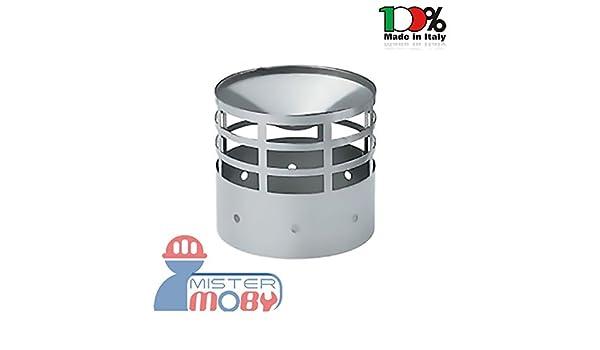 mistermoby - Terminal de escape para tubos la chimenea Estufa estufas de pellets de acero inoxidable Diámetro 8 centímetros: Amazon.es: Bricolaje y ...