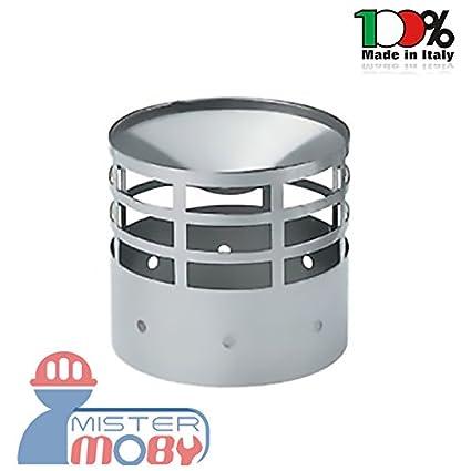 mistermoby – Terminal de escape para tubos la chimenea Estufa estufas de pellets de acero inoxidable