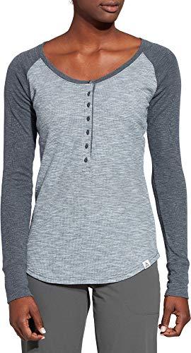 - Alpine Design Women's Henley Long Sleeve Shirt (S, Flint Stone Blue Heather)