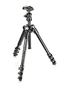 Manfrotto Be Free MKBFRA4-BH Lightweight Aluminum Travel Tripod with Ball Head, Black