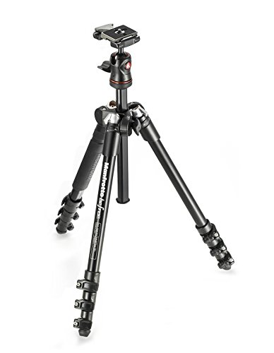 Manfrotto MKBFRA4-BH BeFree Compact Aluminum Travel Tripod Black by Manfrotto