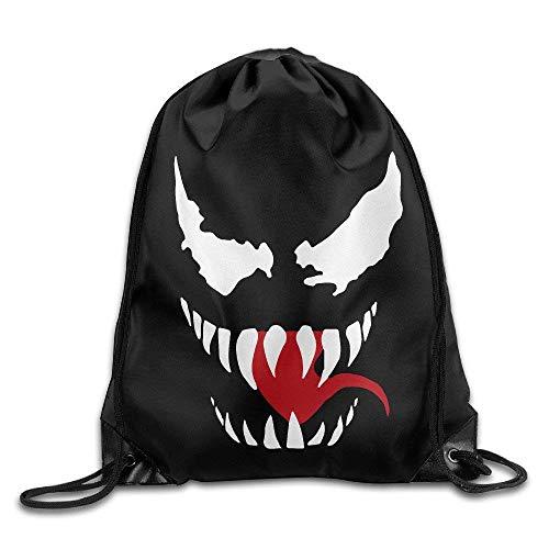- BiXiShop Venom Logo Drawstring Backpacks/Bags