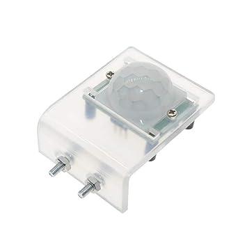 HC-SR501 Soporte de acrílico IR Detector de Sensor de Movimiento infrarrojo piroeléctrico Módulo para