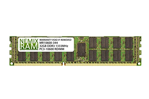 32GB (1x32GB) DDR3-1333MHz PC3-10600 ECC RDIMM 4Rx4 1.5V Registered Memory for Server/Workstation ()