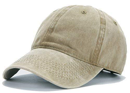 d08110ed Edoneery Men Women Plain Cotton Adjustable Washed Twill Low Profile  Baseball Cap Hat(A1008)