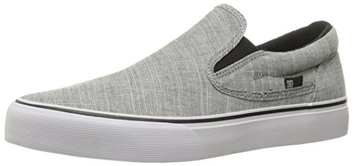 DC Men's Trase Slip-On Tx Se Skateboarding Shoe, Charcoal Grey, 9 D US