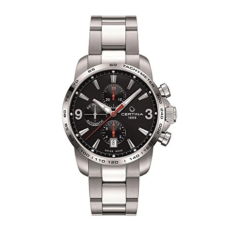 Certina Men's Chronograph C001.427.11.057.00 Gent Automatic Analog Automatic Silver Band Watch