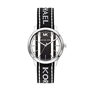 Michael Kors Women's Runway Three-Hand Silver-Tone Stainless Steel Watch MK2795