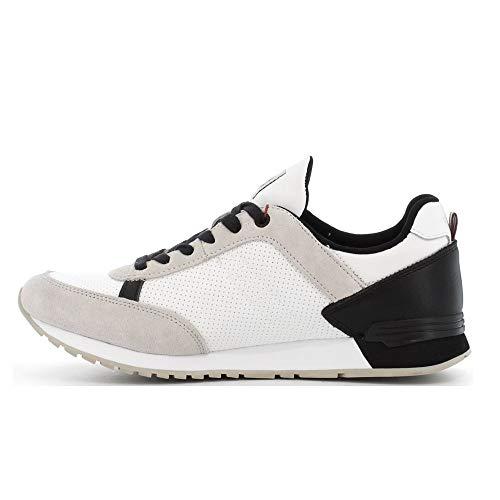 Uomo Colmar 018 Sneakers Gray Scarpe Drill Ginnastica White Nylon Suede Travis qH1UPzqO