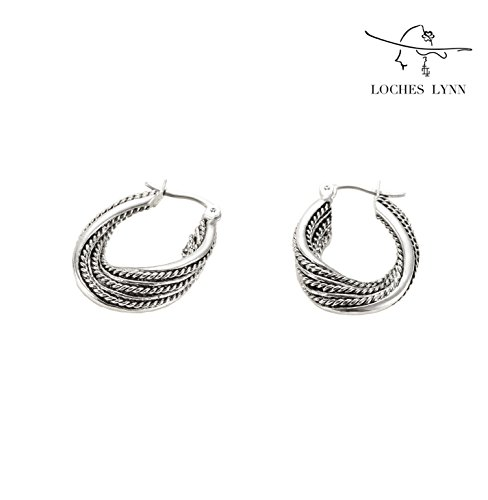 Loches Lynn Stelluxa Austrian Crystals 925 Silver Plated Fashion Jewelry Earrings (EP-16277) - Ep Womens Ring