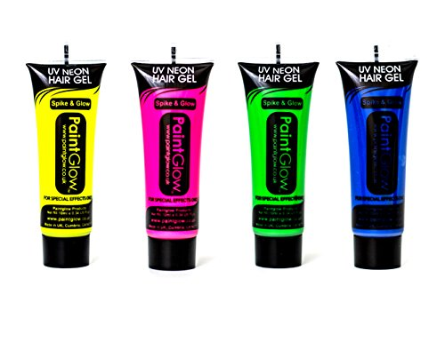 air Gel Party Festival Rave Set 4 Pink Yellow Green Blue ()