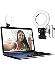 EEIEER Video Conference Lighting Kit, Conference light, zoom lighting, LED Ring Light Clip On for Computers, Monitors, and Laptops, best for Remote Working, Distance Learning, Webcam and Zoom Calls, Self Broadcasting and Live Streaming, Computer Laptop Video Conferencing etc