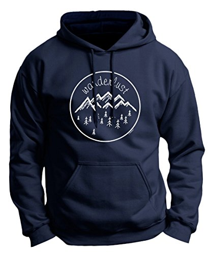 Travelers Gift Ideas Hiking Gift Hiking Clothes Wanderlust Clothing Wanderlust Gift Travel Premium Hoodie Sweatshirt Large Navy