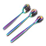 OdontoMed2011 Lot of 3 Pieces Rotating Spur Neurological Wartenberg Pinwheel 3 + 5 + 7 Heads Stainless Steel Multi Color Rainbow Pin Wheel Diagnostic Equipment