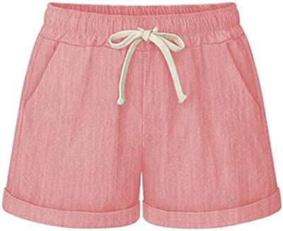 Womens Drawstring Elastic Casual Cotton product image