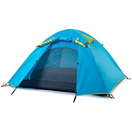 公園序文簡単なZYN アルミロッド屋外テント二重層野キャンプキャンプテント3-4人々ビッグテント (色 : オレンジ)