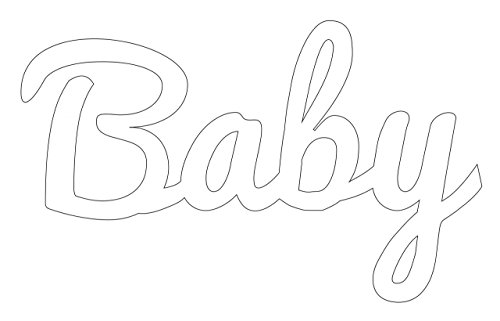 Baby Distressed & Painted Cutout Vintage Ready To Hang Wall Monogram Home Decor (Aluminum), (White), (18 Inch Tall)