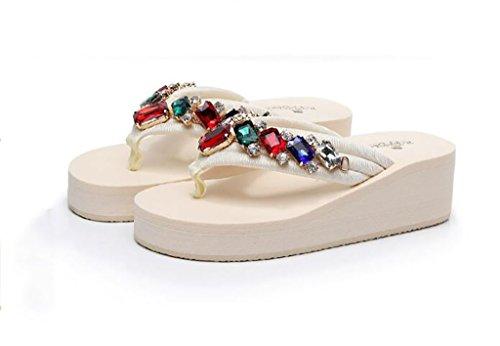 colore Moda Moda Fafz A Zeppe Alla Pantofole Donna Scarpe Da Piatti 35 Infradito Zeppe Pantofole Spiaggia Dimensioni Sandali B Scivolose Z6xrq1Z