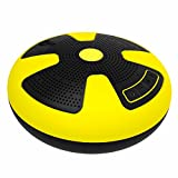 CYBORIS Floating Bluetooth Speakers IPX7 Waterproof Swimming Pool Speaker Wireless 10W With Microphone for Beach, Bathroom, Boat, Outdoor, Home, Shower Audio Drives (Yellow Black)
