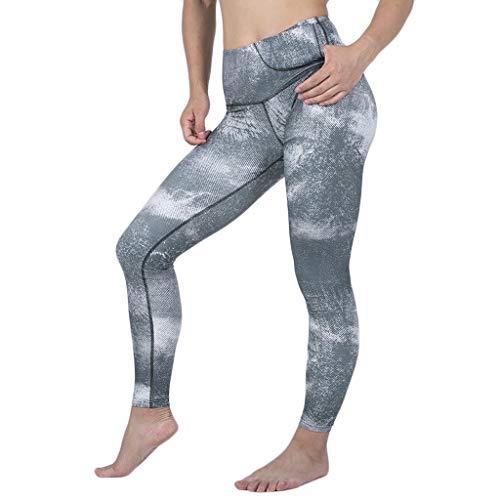 CCatyam Yoga Pants for Women, Trouser High Waist Legging Pocket Print Sexy Running Casual Fashion White