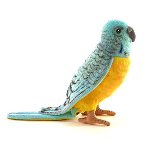 "Hansa Budgie Blue and Yellow Parakeet 6"" Plush"