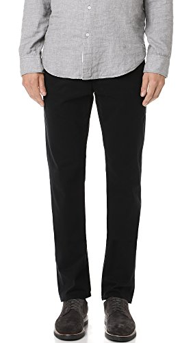 AG Adriano Goldschmied Men's The Lux Khaki Tailored Trouser,  Super Black, 34