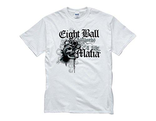 CueStix TSEBM03 LARGE White Eight Ball Mafia T-Shirt Large from Action