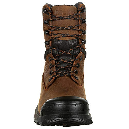8'' Brown Boots Toe Work Composite Men's Xo Waterproof Rocky PHpqA5wP