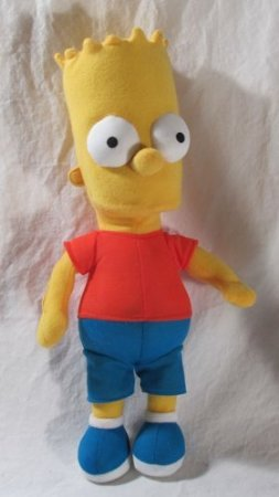 Simpsons Blue Pants - The Simpsons - Merchandise - Plush Doll (Bart - Red Shirt, Blue Pants) (Size: 12' in height)
