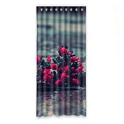 Rose Custom Polyester Soft healthy Windoww Curtain 50\