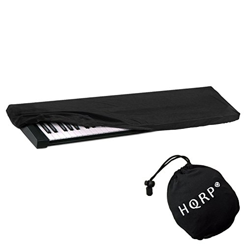 HQRP Elastic Dust Cover w/ Bag (Black) for Williams Legato / Allegro 2 Electronic Keyboard Digital Piano + HQRP -