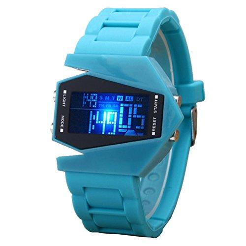 Elegante multifunción LED relojes de gel de silicona sport y ...