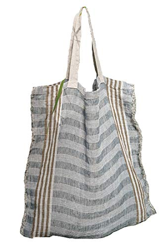 (Tote Bag - 100% Linen Fabric - 19