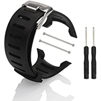 SUUNTO Replacement Watch Band Strap - BUTEFO Soft Black Rubber Replacement Watch Band Strap For SUUNTO T1 T1C T3 T3C T3D T4C T4D SS012801000 SS012804000 With 2 Free Tool