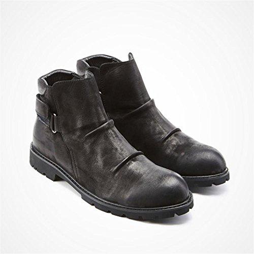 Botas de invierno hombre para ayudar a las botas de nieve al aire libre de felpa c¨¢lida black