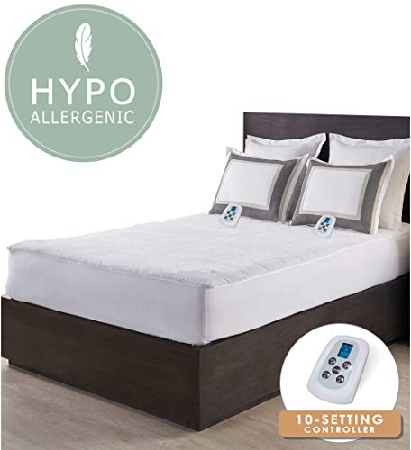 Serta | Luxurious Sherpa Plush Heated Electric Mattress Pad