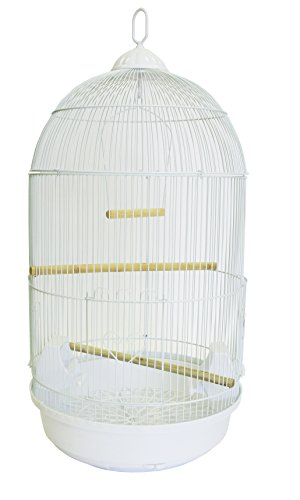 YML A1594 Bar Spacing Round Bird Cage, White, Large