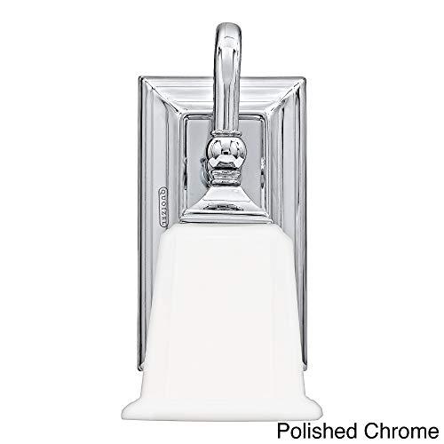 - Quoizel NL8601C Nicholas Mid Century Bath Wall Sconce Lighting, 1-Light, 100 Watt, Polished Chrome (10