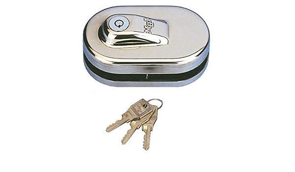 Sag Seguridad. S.L. - Cerradura puerta cristal 2 hojas lbm-s: Amazon.es: Bricolaje y herramientas
